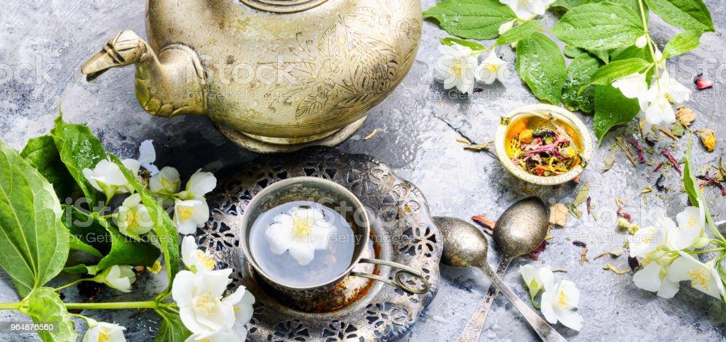 Green tea with jasmine royalty-free stock photo