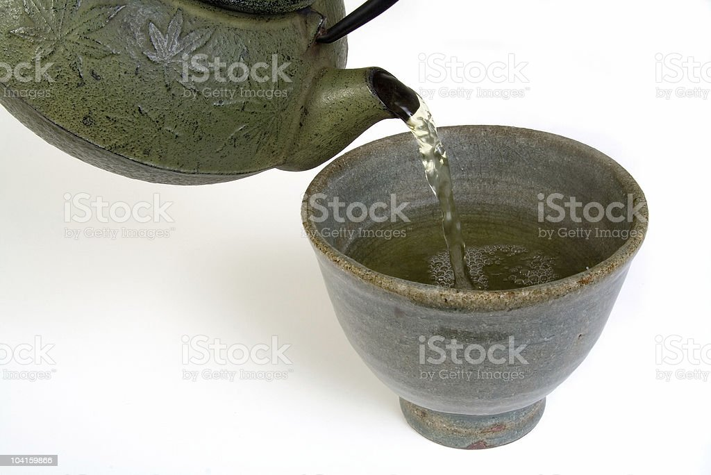 Green Tea-Horizontal royalty-free stock photo