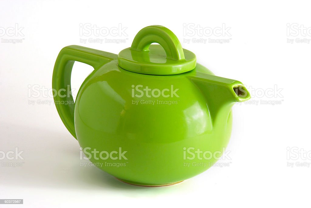 Green Teapot royalty-free stock photo