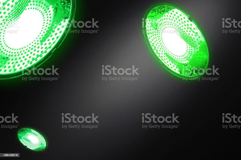 Green technologies. Illumination with energy saving lamps stock photo
