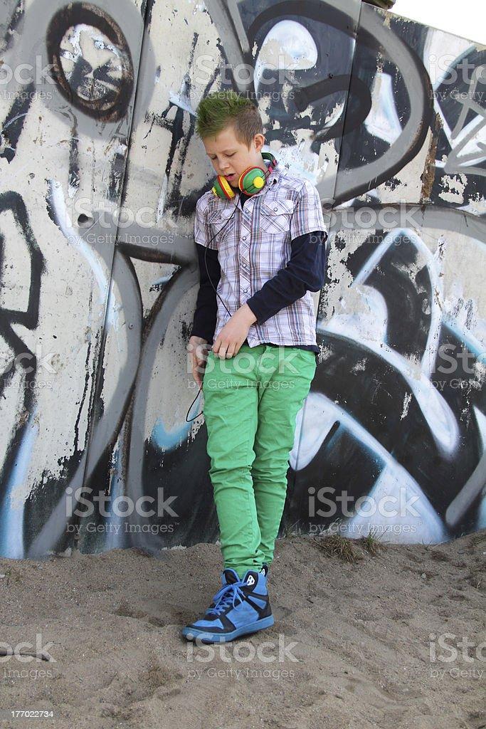 green teen stock photo