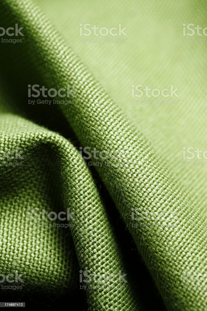 Green textile - background royalty-free stock photo