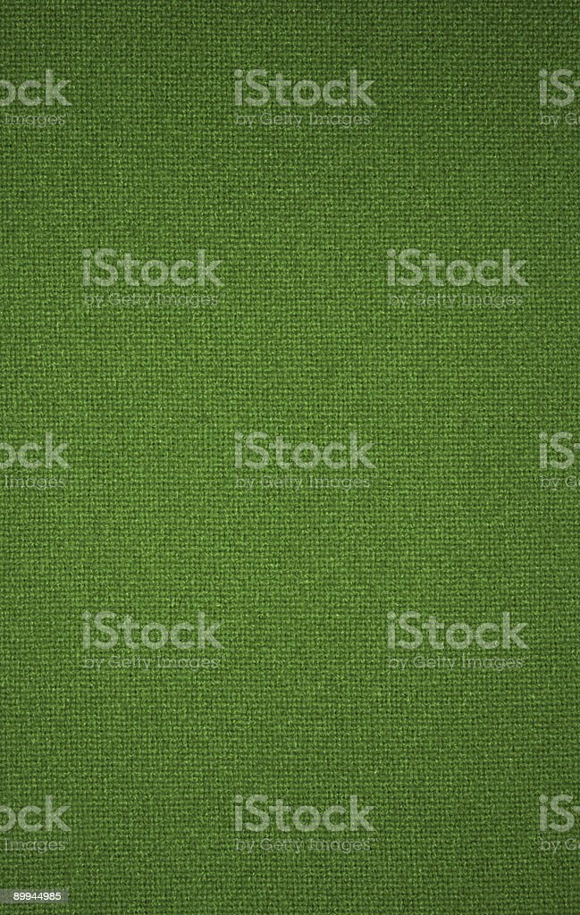 Green textured fabric background royalty-free stock photo