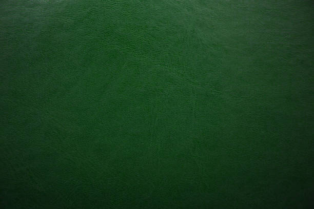 green textured leather background. abstract leather texture. - couro imagens e fotografias de stock