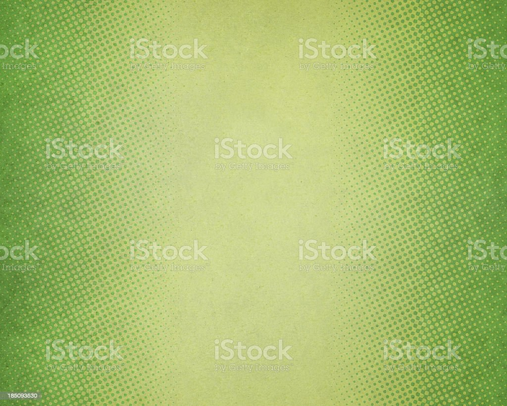 green textured paper with halftone stock photo
