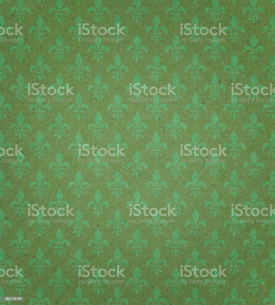 green textured paper with symbol stock photo
