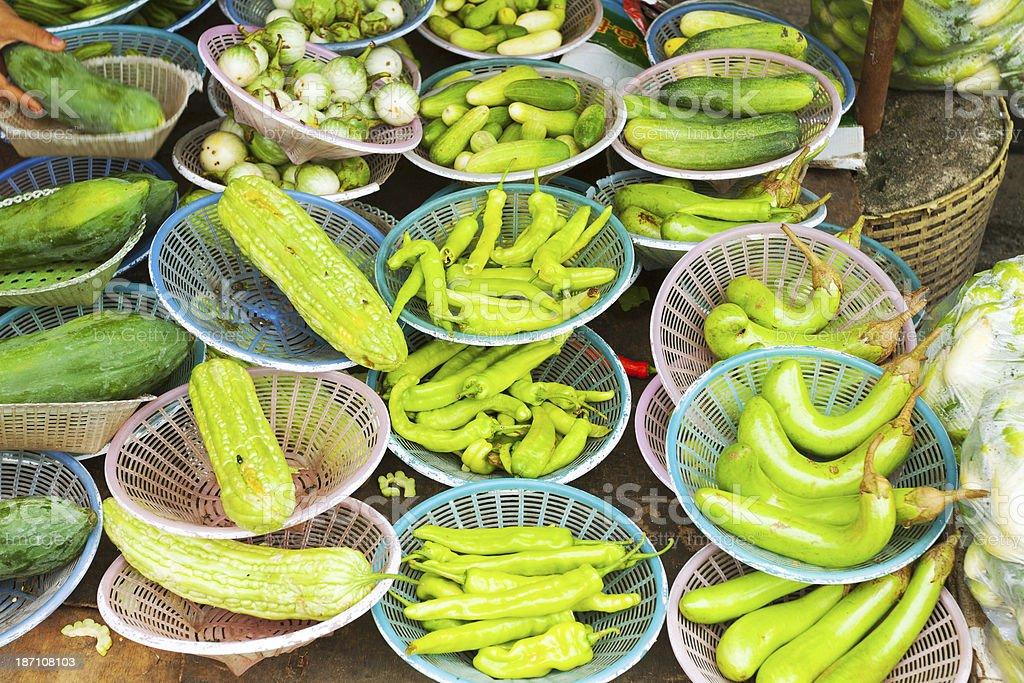 Green Thai vegetables royalty-free stock photo