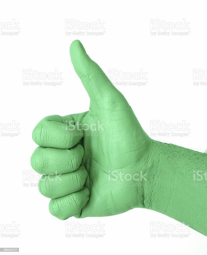 Green Thumb royalty-free stock photo