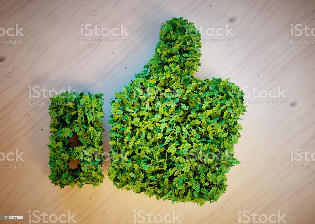 Green thumbs up stock photo