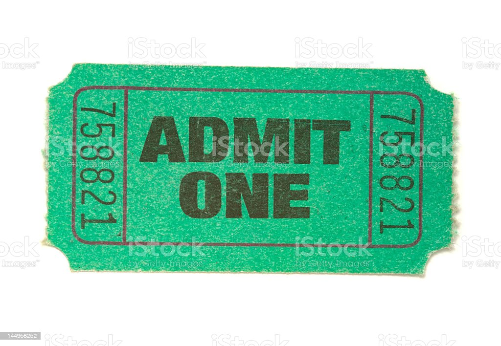 Green Ticket stock photo