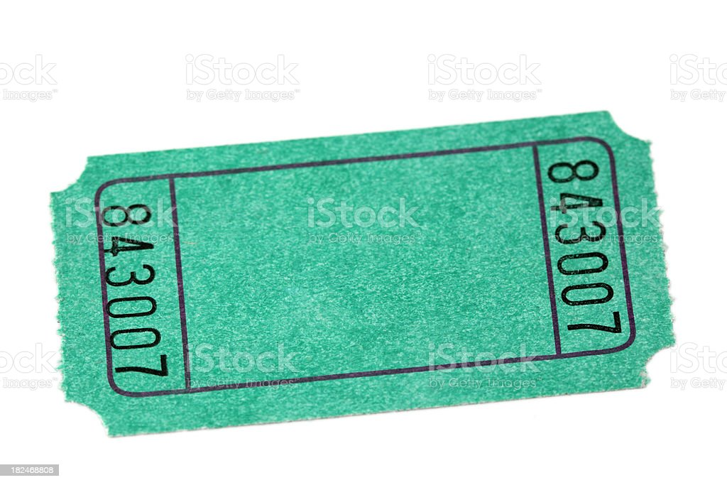 green ticket royalty-free stock photo