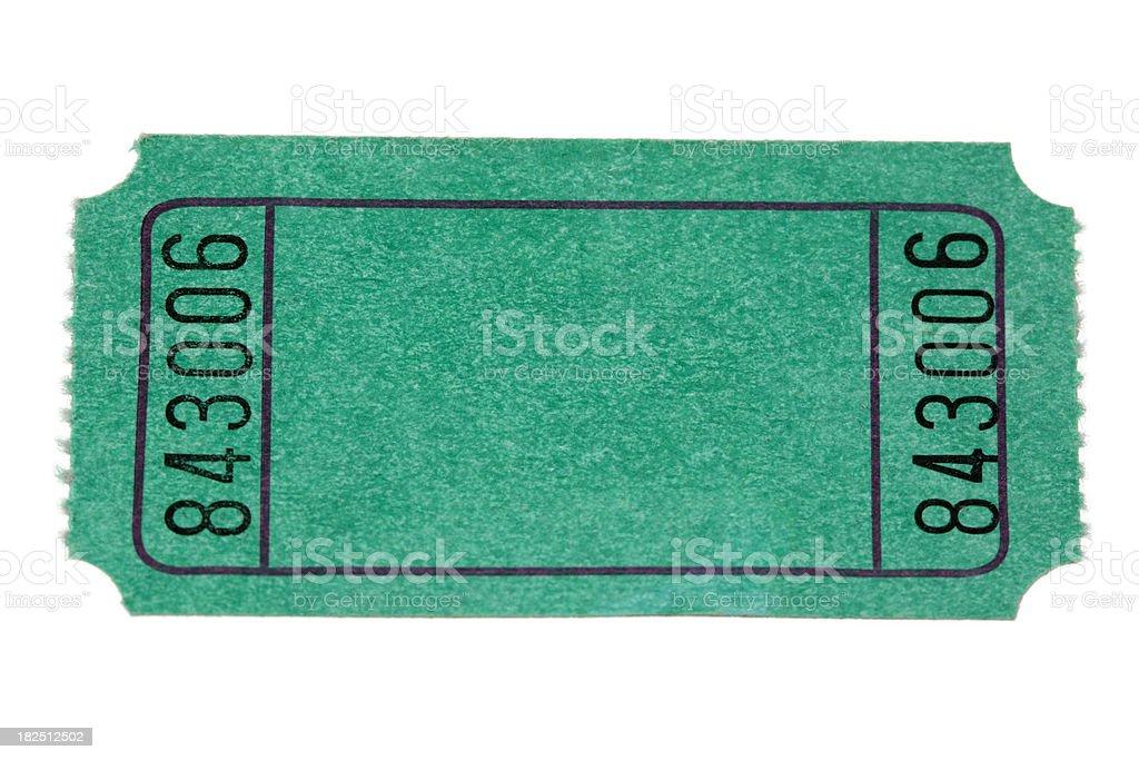 green ticket royalty-free stock photo