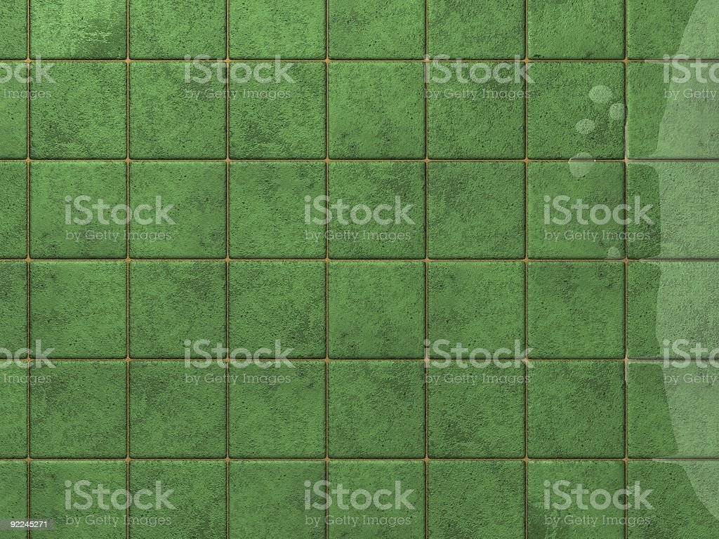 green tile - Request royalty-free stock photo