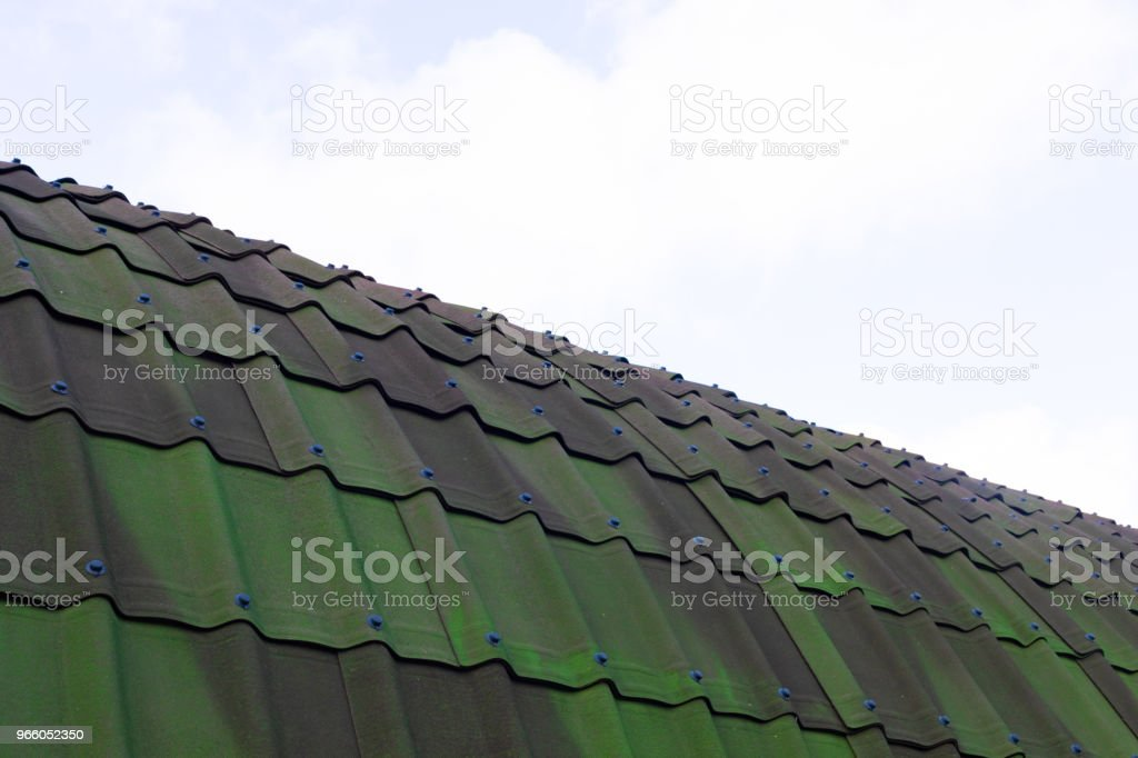green tile roof for background green tile roof for background Abstract Stock Photo