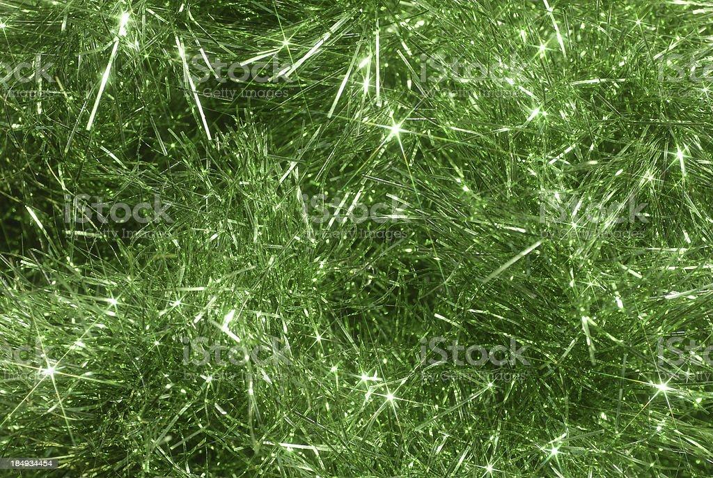 Green tinsel royalty-free stock photo