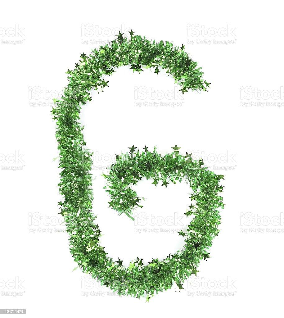 Foto De Enfeites De Natal Verde Com Estrelas Em Forma De Letra G E  -> Enfeites De Fotos