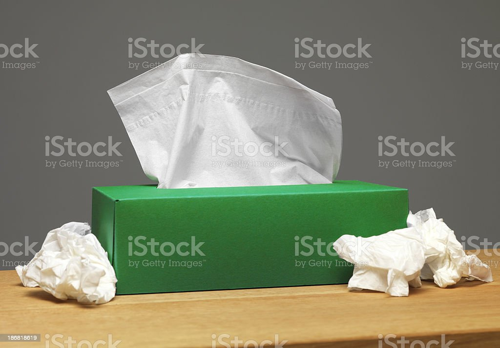 green tissue box royalty-free stock photo