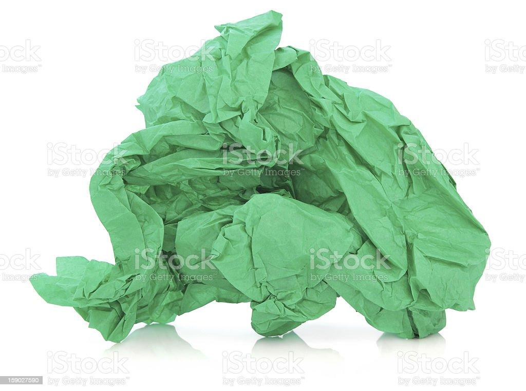 Green Tissue Paper stock photo