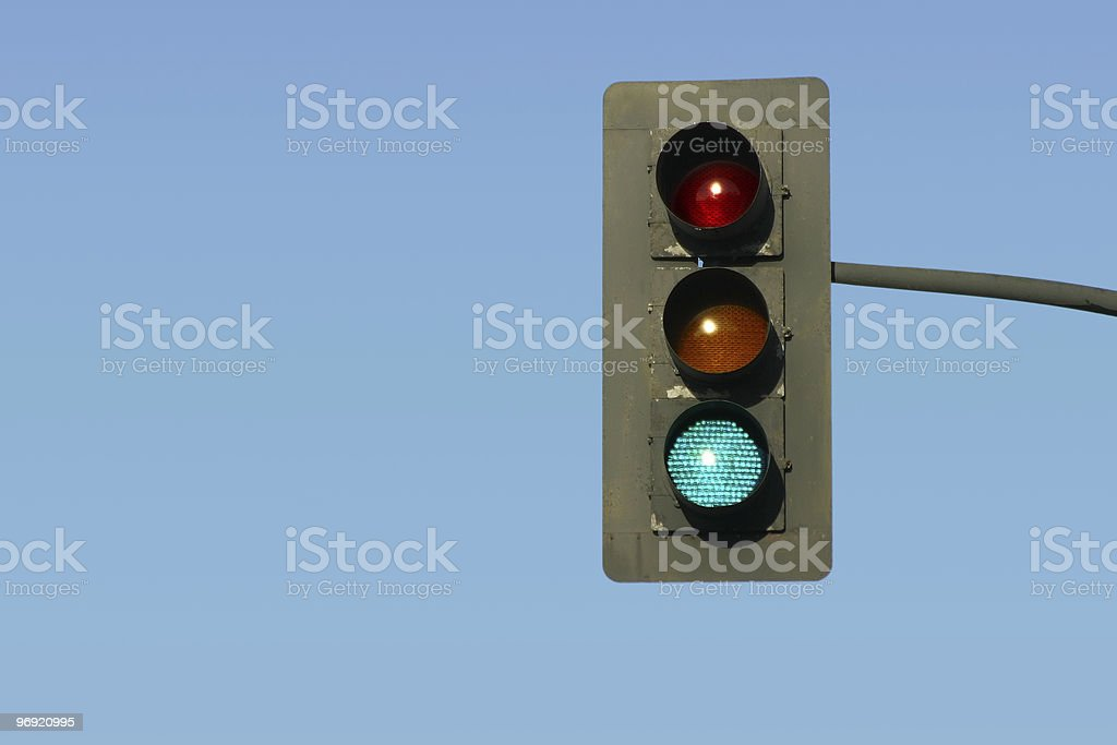 Green Traffic Light royalty-free stock photo
