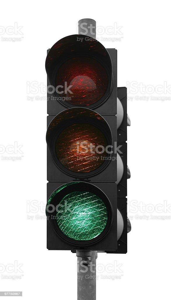green traffic light stock photo