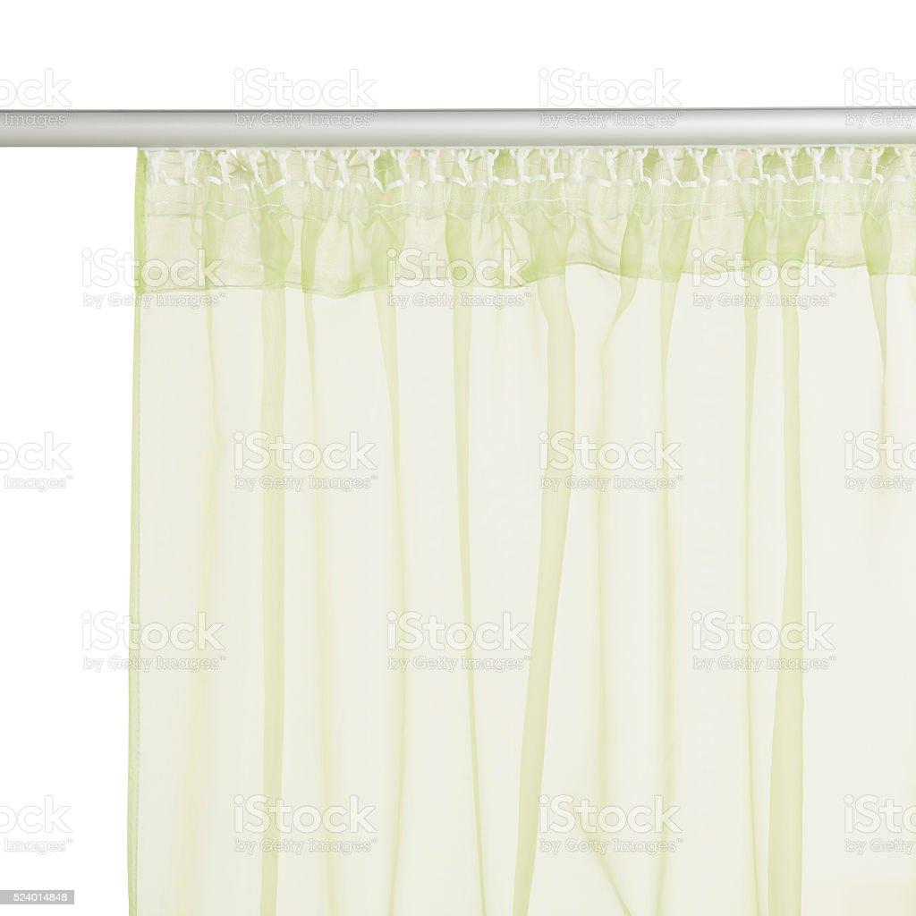 Green translucent organza stock photo