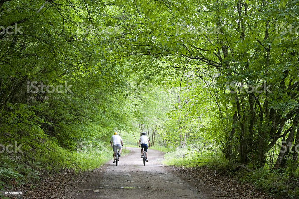 Green transportation on Bicycles royalty-free stock photo