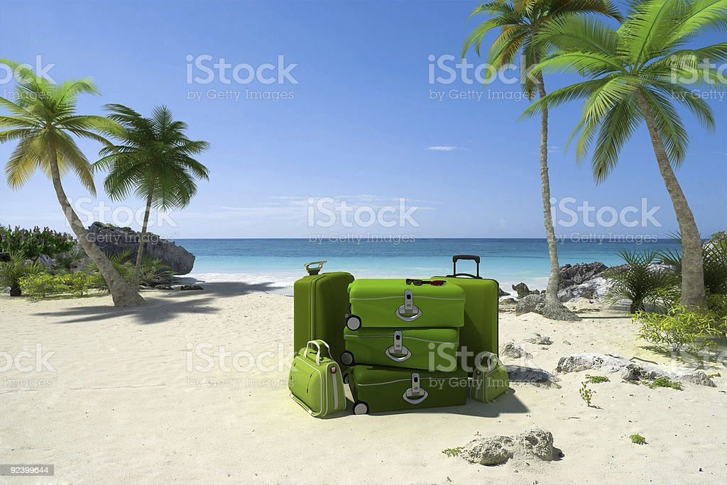Green travelling stock photo