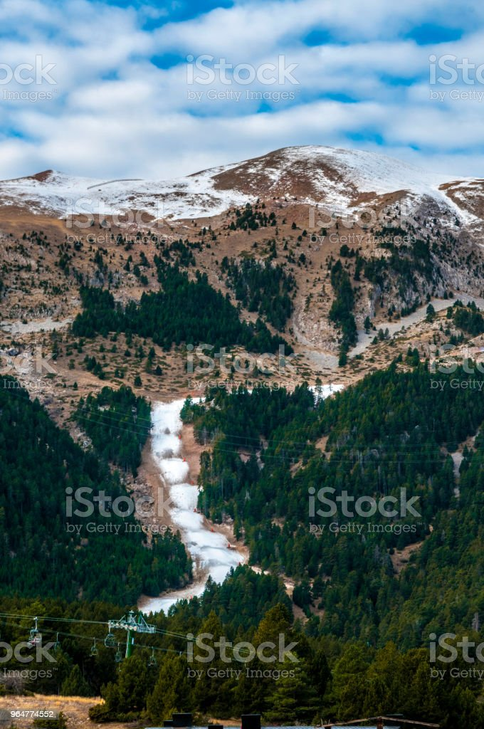 Green trees in the mountain royalty-free stock photo