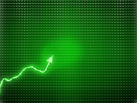 istock Green trend as success symbol or financial growth. Useful for analytics 1016498604