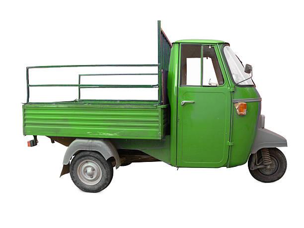 Verde Triciclo Apecar - foto stock