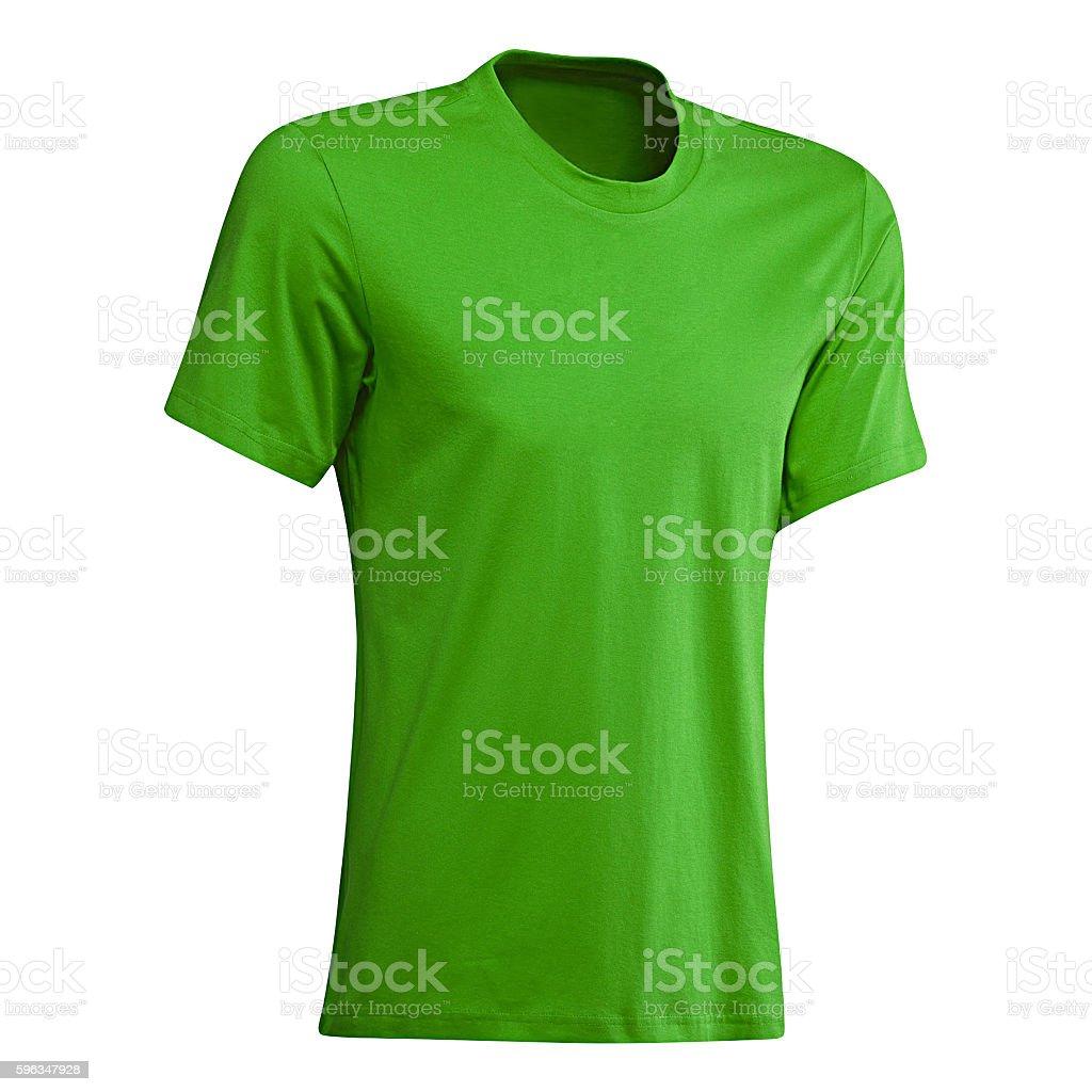 Green tshirt isolated royalty-free stock photo