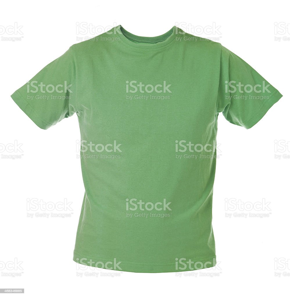 Green T-shirt stock photo