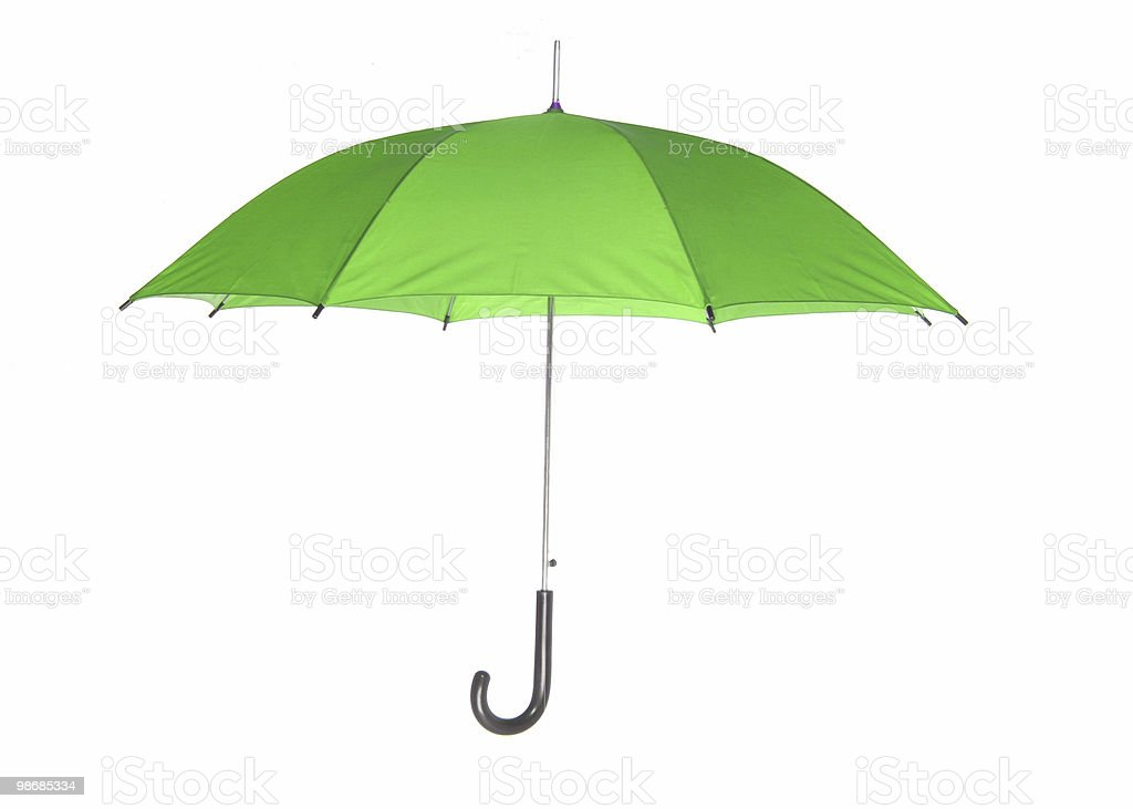 green umbrella royalty-free stock photo