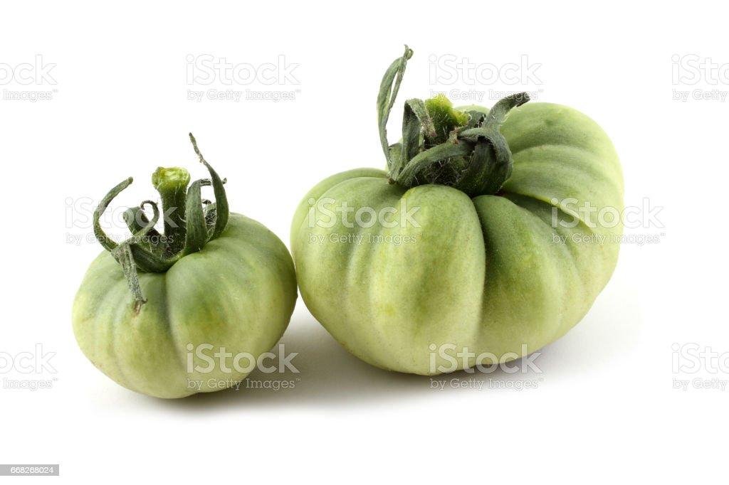 Green unripe tomatoes foto stock royalty-free