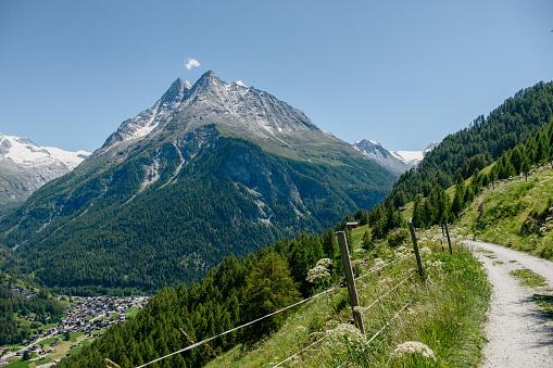 Green Val d'Hérens valley in Valais, Switzerland