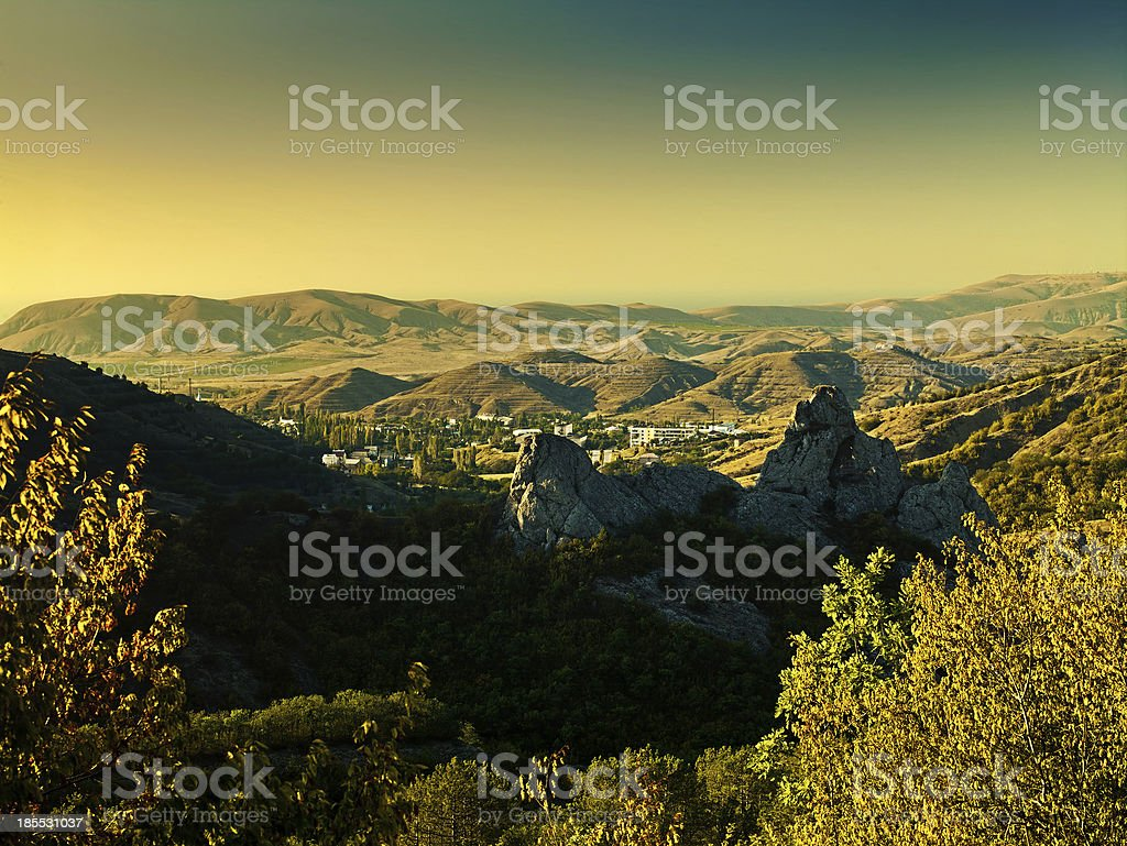 Green Valley, abstract environmental backgrounds royalty-free stock photo