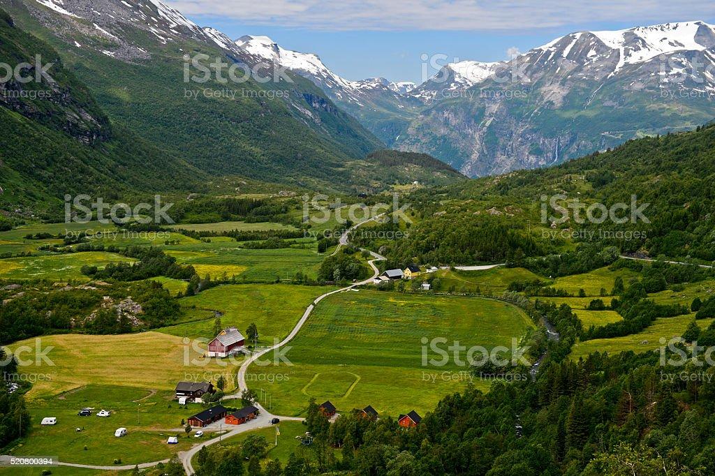 Grünen Tal nahe dem Geiranger, Norwegen – Foto