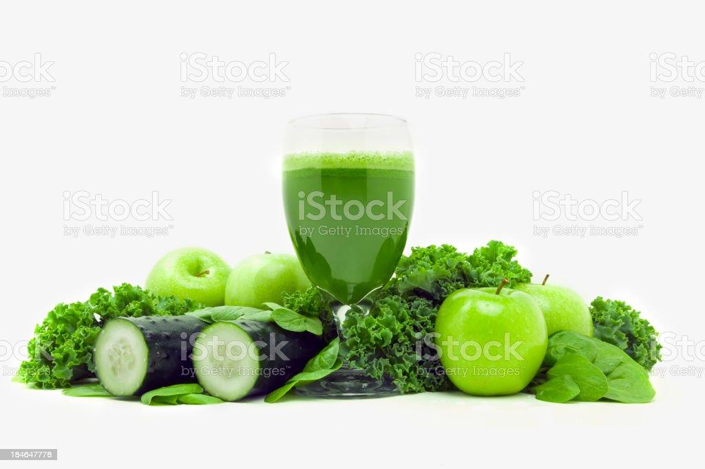 Green vegetable juice stock photo