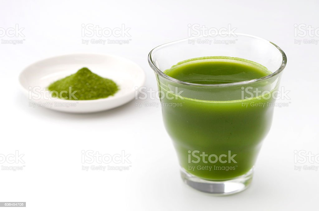 Green vegetable juice stock photo