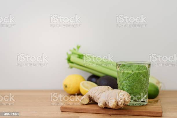 Green Vegetable Smoothie Healthy Eating Stock Photo - Download Image Now
