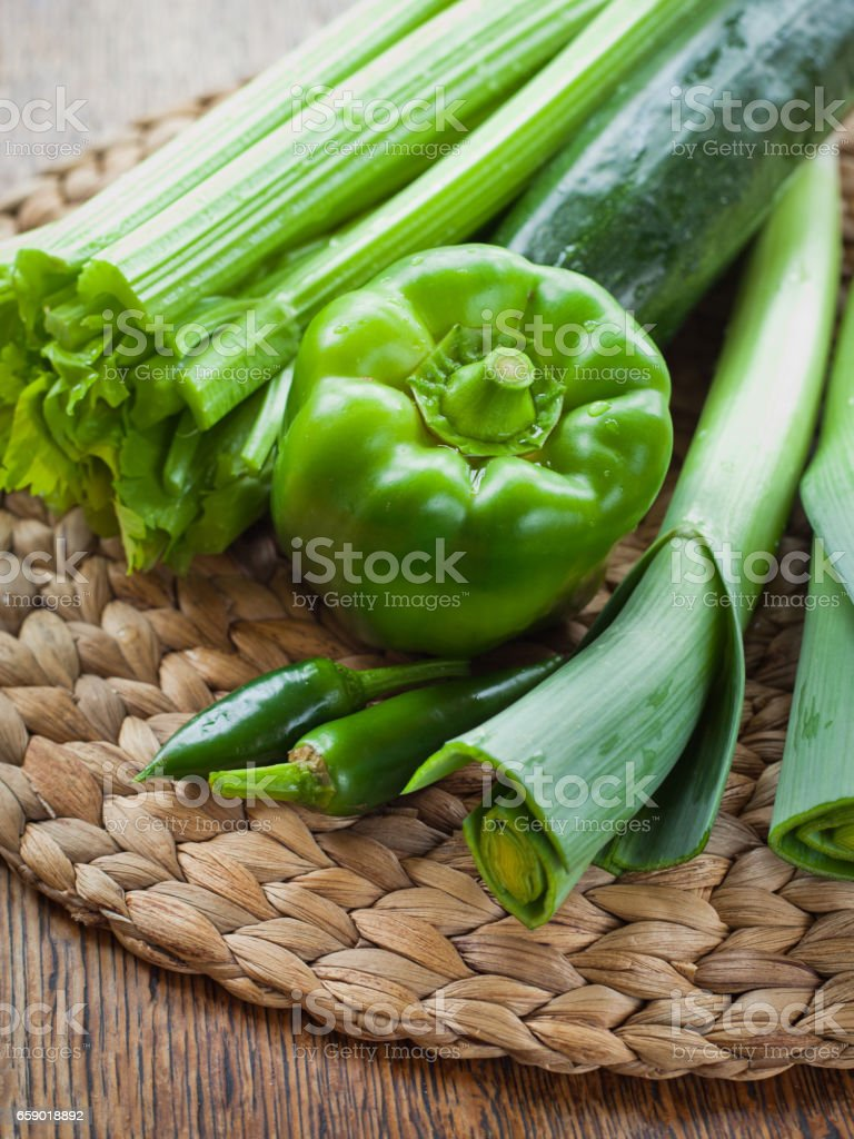 Green vegetables board royalty-free stock photo