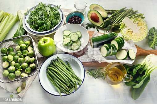 istock Green vegetables for healthy cooking 1081255626