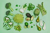 istock Green vegetables shoot from above over head 638227330