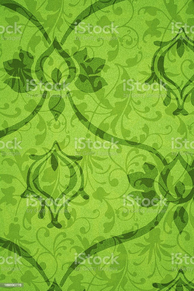 Green Victorian Background royalty-free stock photo