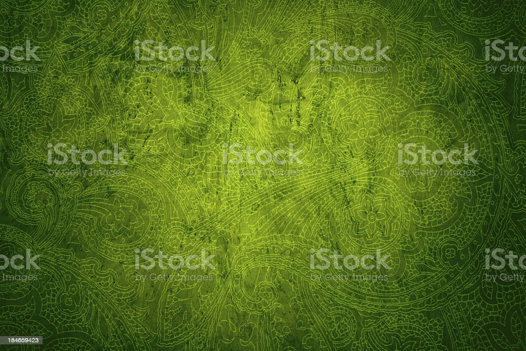 Green Victorian Background stock photo