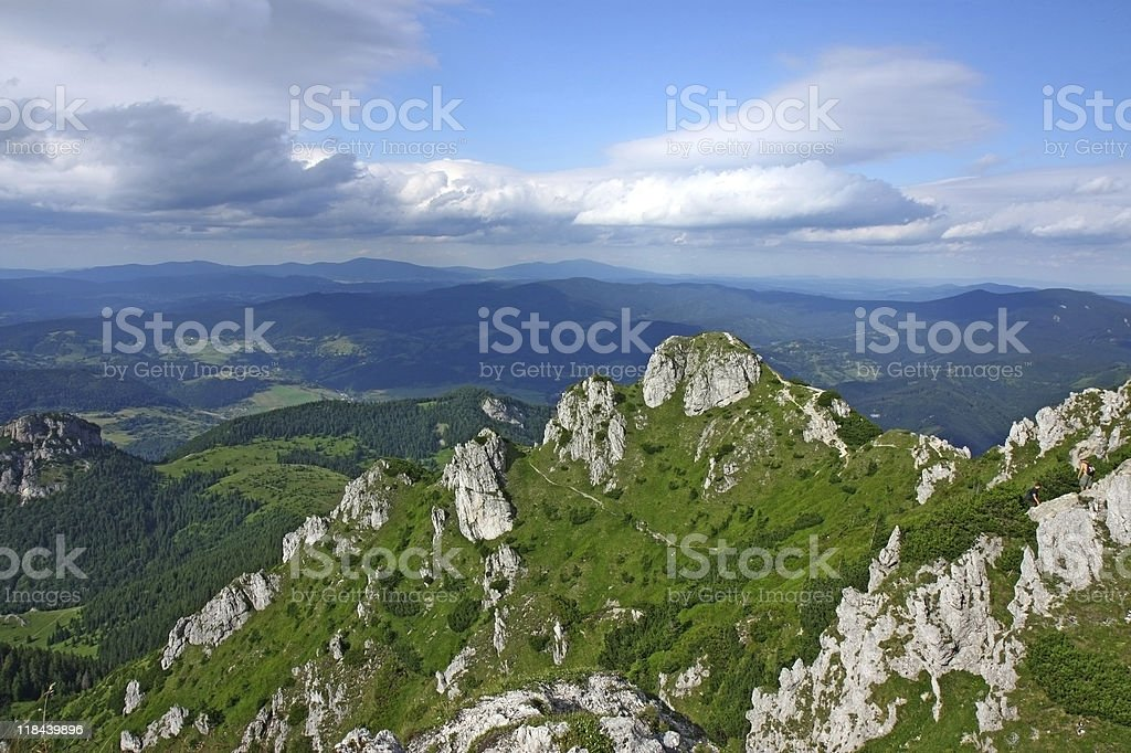 green view of mountains royalty-free stock photo