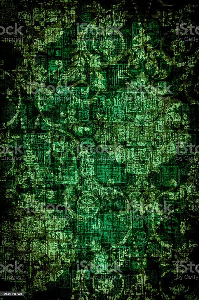 Verde fundo Vintage foto royalty-free