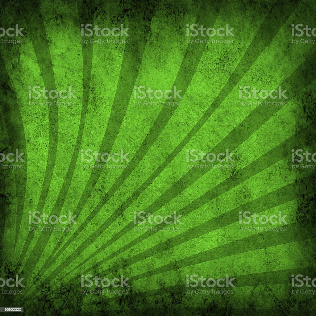 green vintage grunge background with sun rays royalty-free stock photo