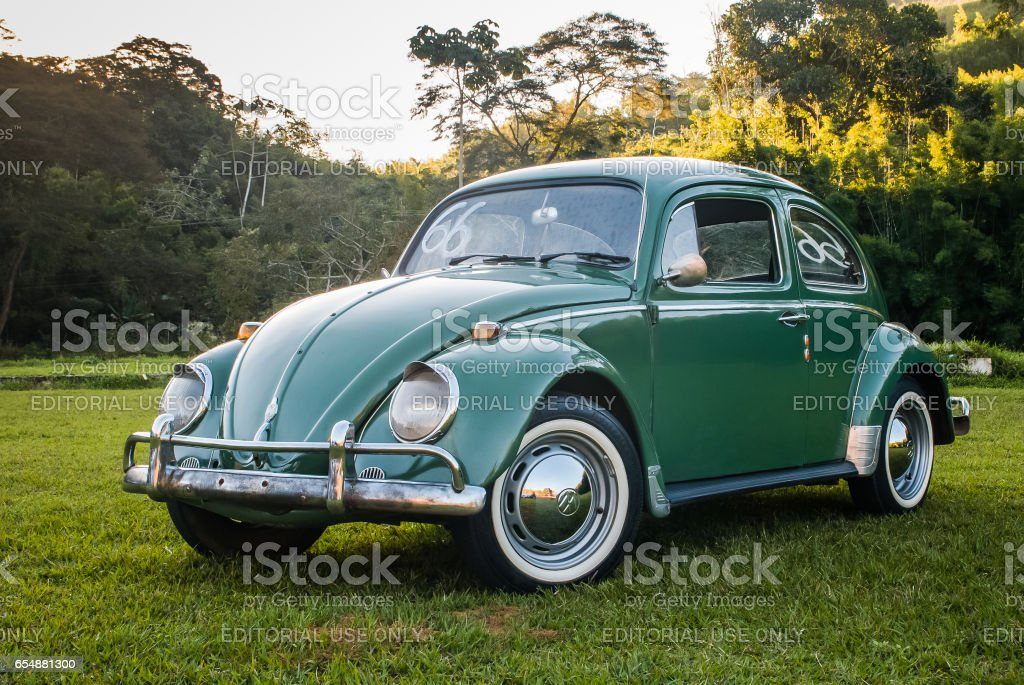 Green Volkswagen Beetle or Bug stock photo