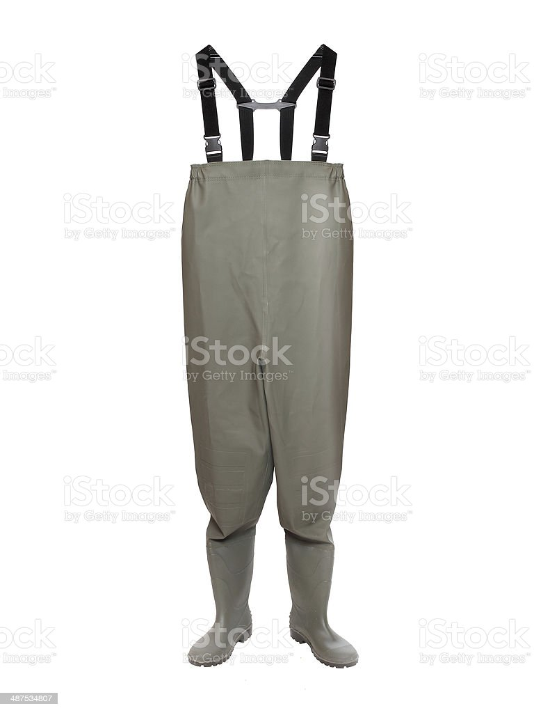 Green Waders. stock photo